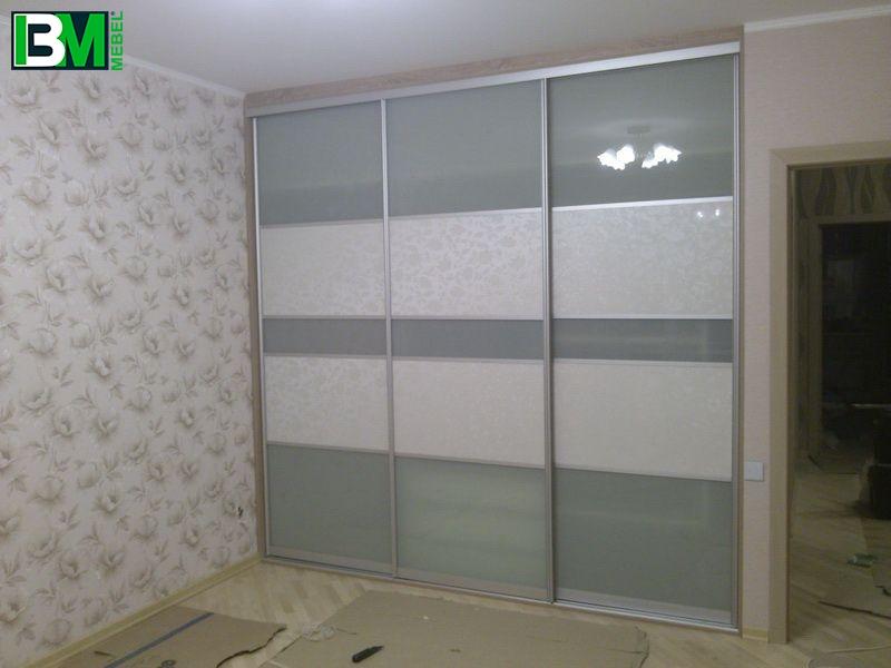 белый шкаф купе МДФ и лакомат