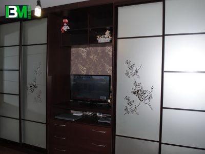 современный шкаф купе в зал стильный дизайн