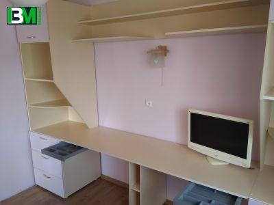 бело молочный длинный компьютерный стол для двоих детей