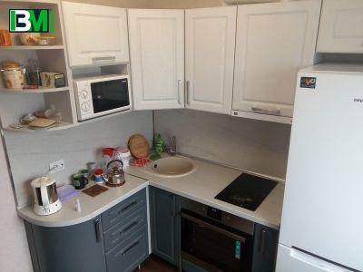 серая кухня в классическом стиле МДФ крашенный матовая